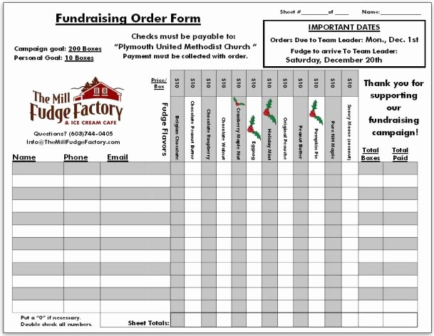 Excel Fundraiser order form Template Elegant Fundraiser order Templates Word Excel Samples