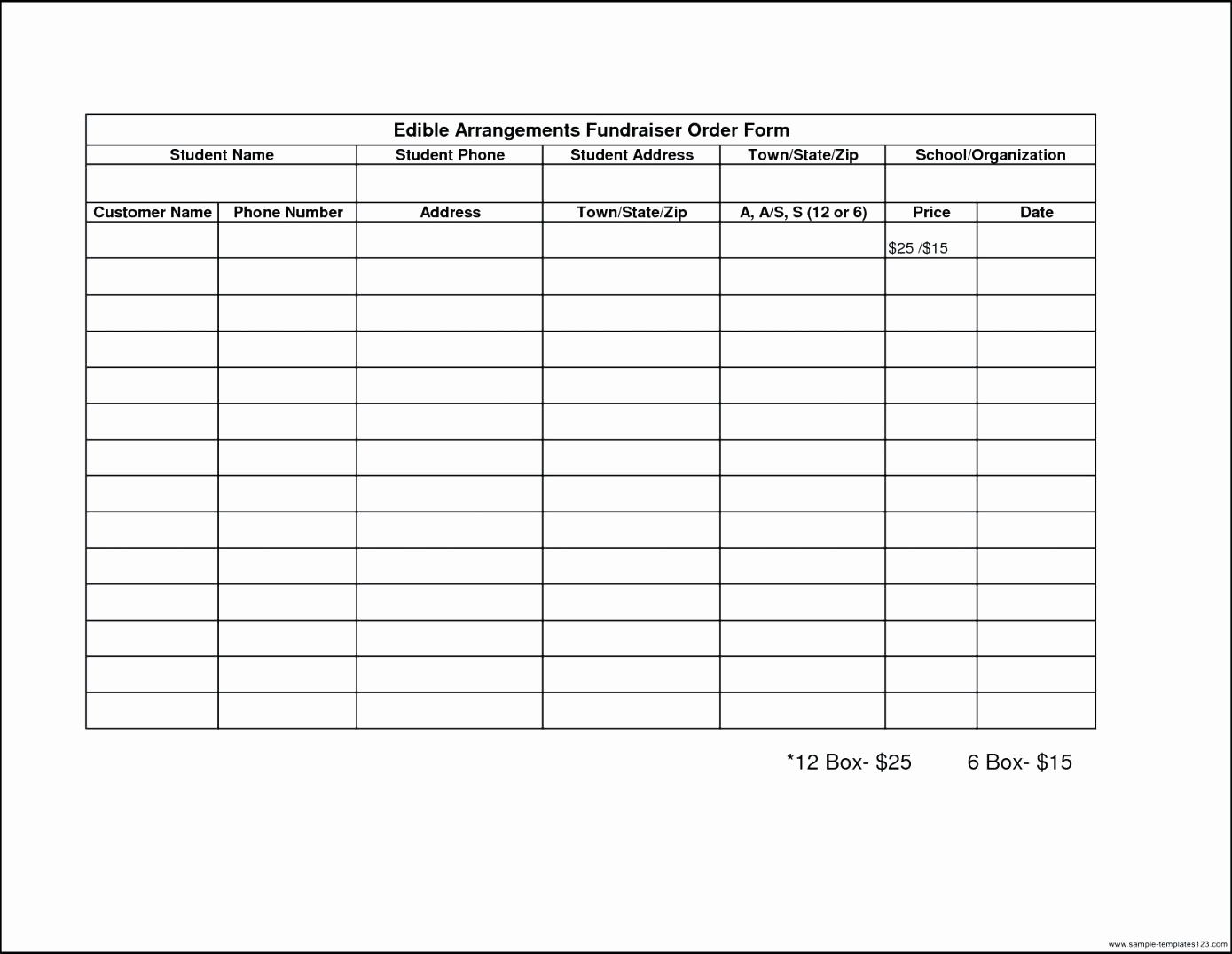 Excel Fundraiser order form Template Inspirational Template Sample order form Template Excel
