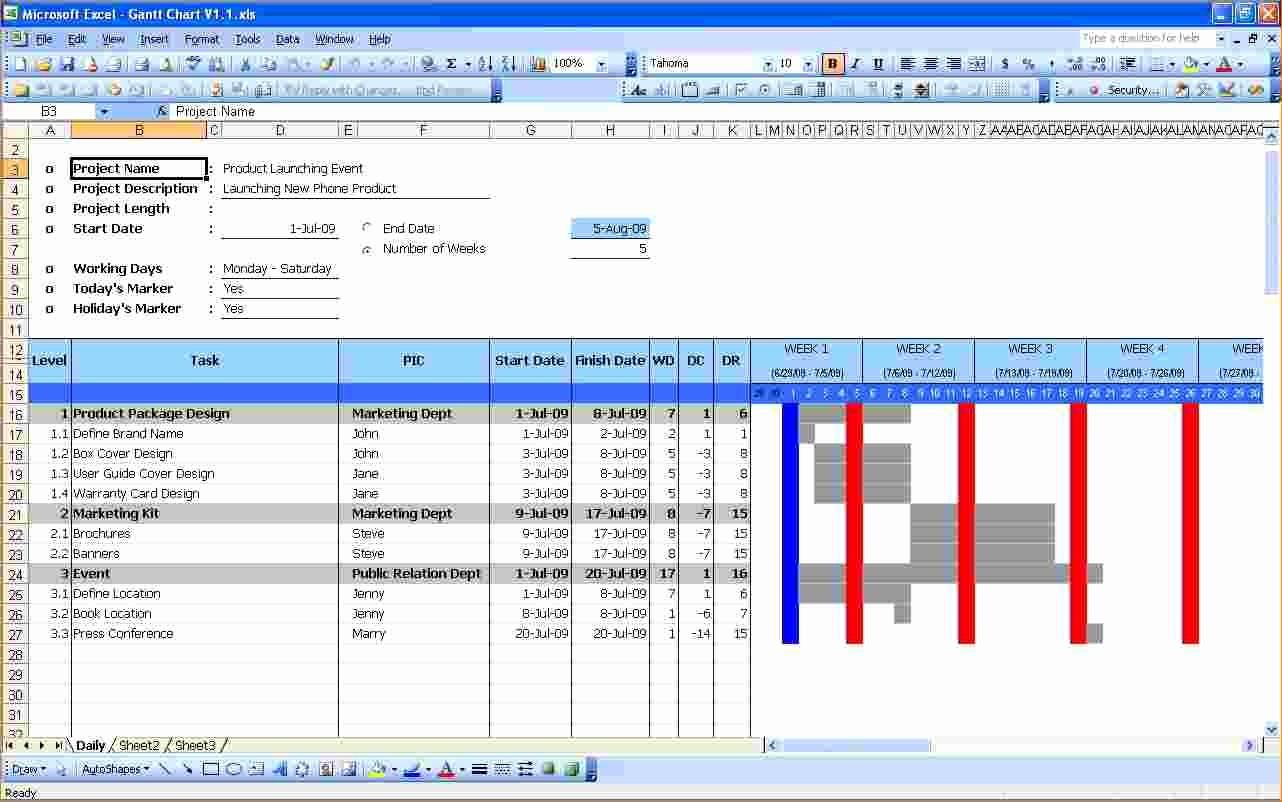 Excel Gantt Project Planner Template Best Of 6 Gantt Chart Excel Template Free