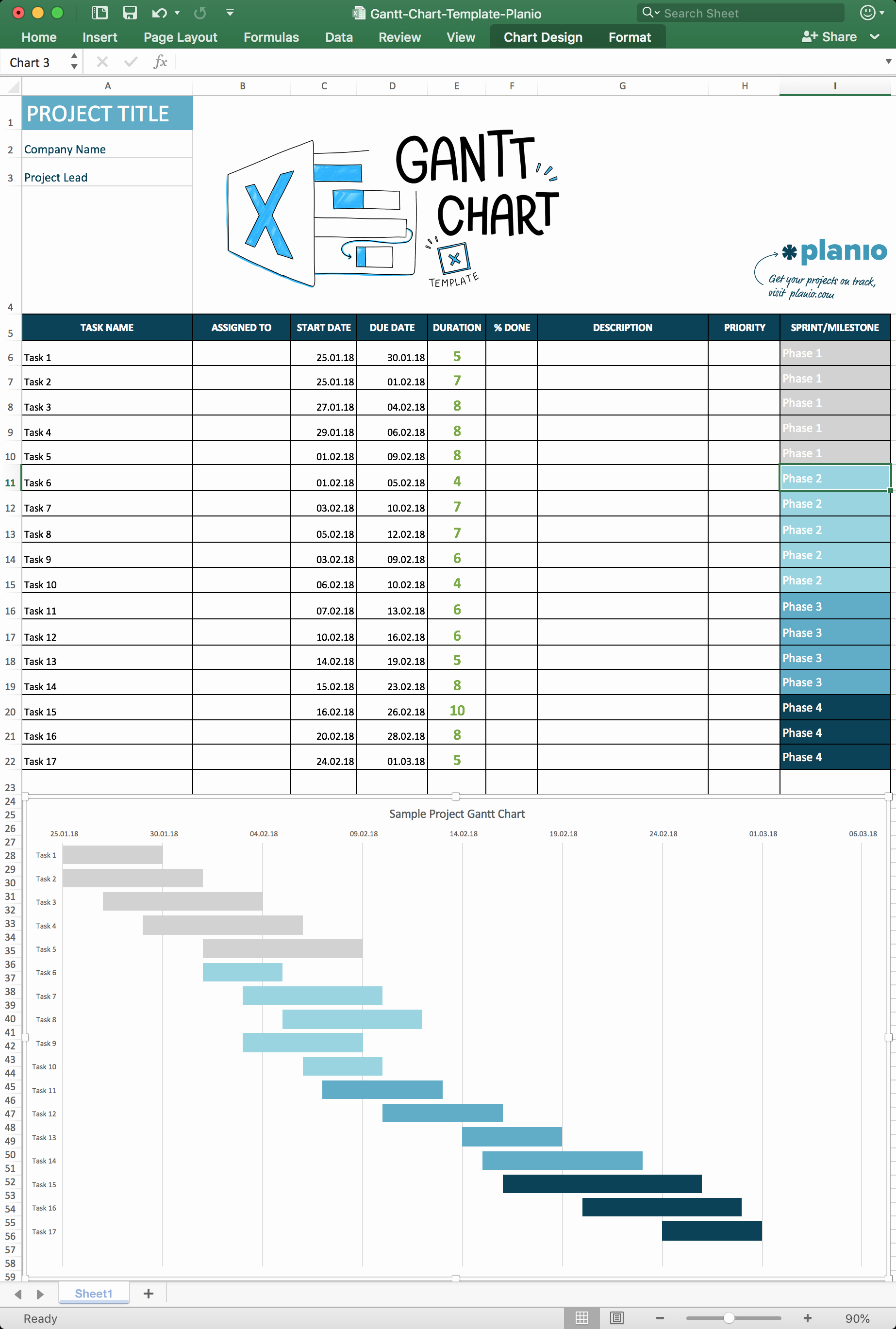 Excel Gantt Project Planner Template Luxury How to Create A Gantt Chart In Excel Free Template and
