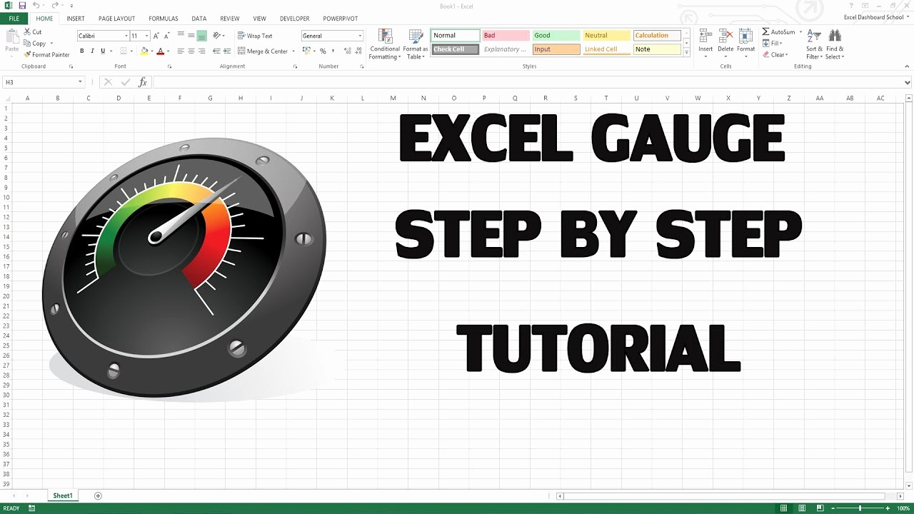 Excel Gauge Chart Template Download Awesome Speedometer Graph In Excel 2007 Excel Professor