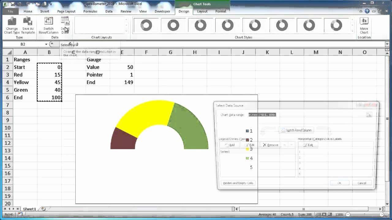 Excel Gauge Chart Template Download Beautiful 7 Best Of Create Speedometer Chart Excel Excel
