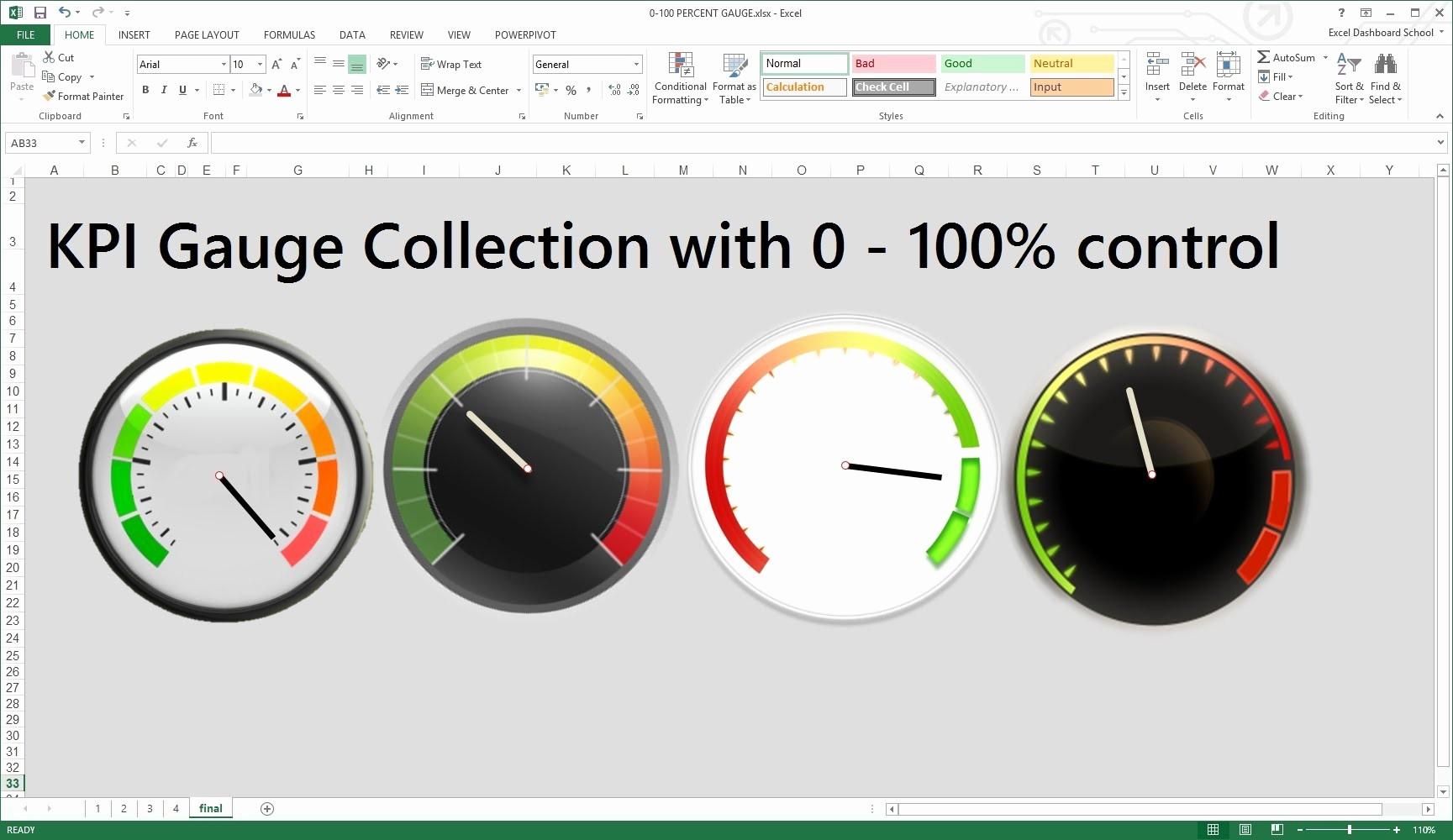 Excel Gauge Chart Template Download Beautiful Kpi Dashboard Excel Template Free Download