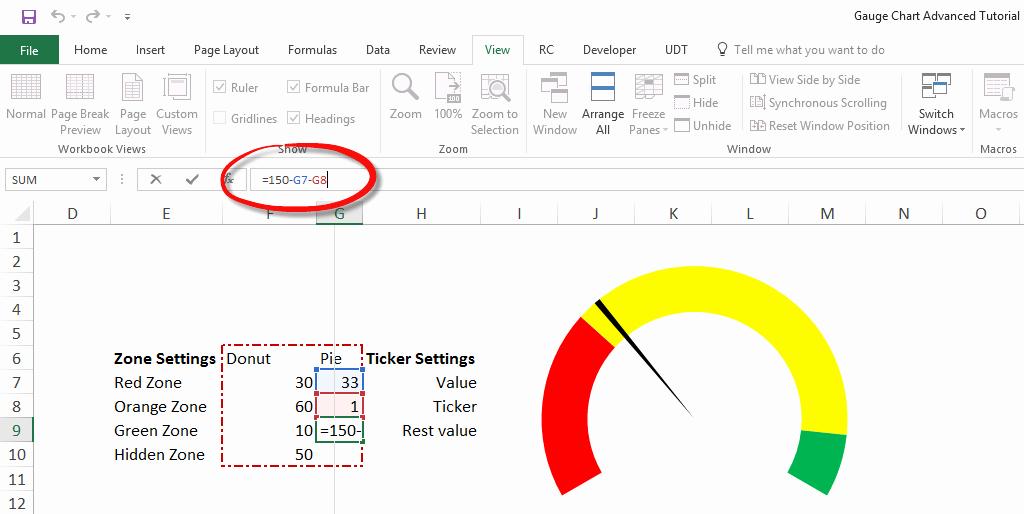 Excel Gauge Chart Template Download Elegant Gauge Chart Excel Tutorial Step by Step Training