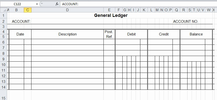 Excel Income and Expense Ledger Awesome Bud Ledger Template