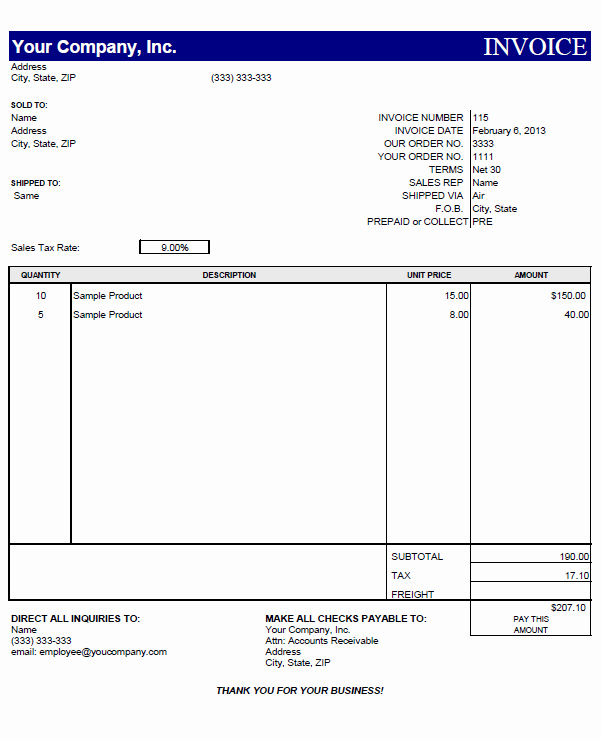 Excel Invoice Template Free Download Best Of Proforma Invoice Template Pdf Free Download