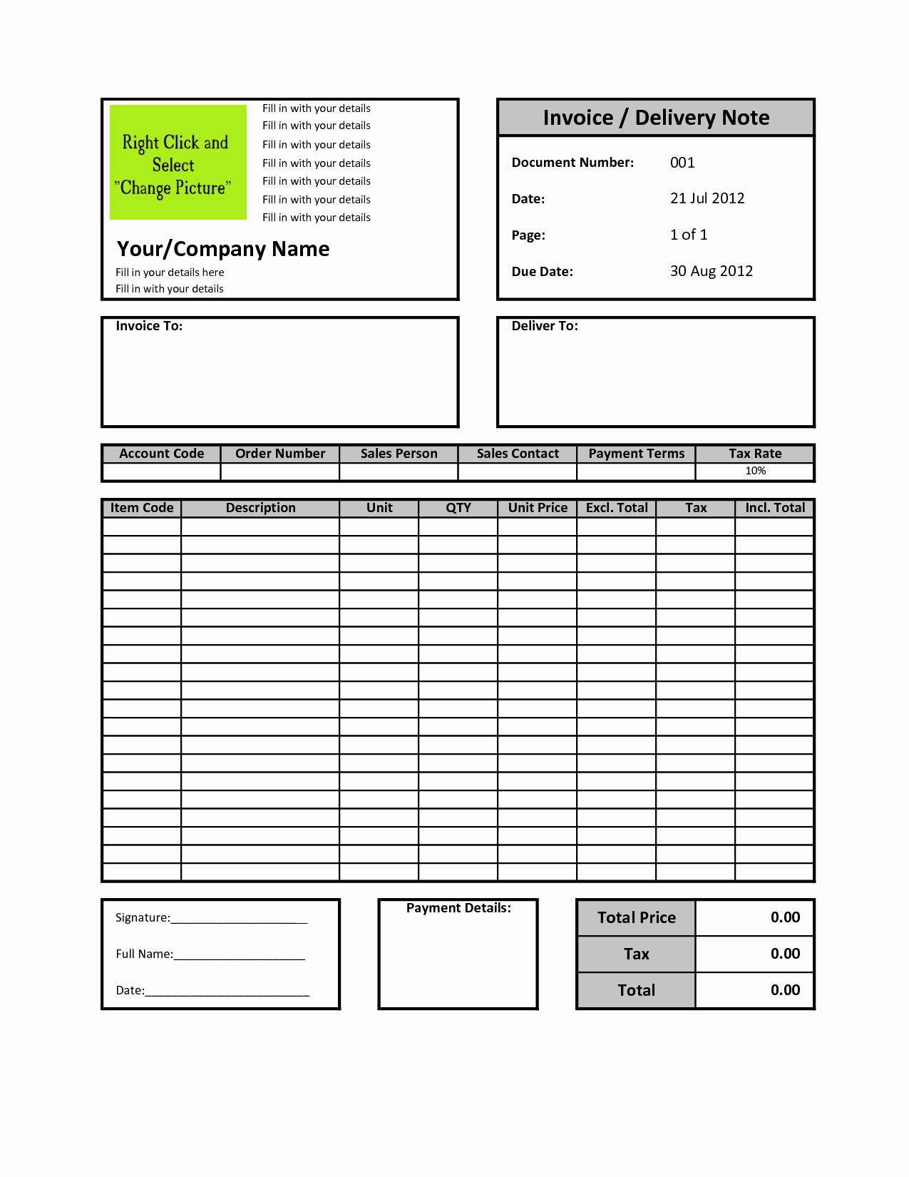Excel Invoice Template Free Download Fresh Billing Invoice Template Excel