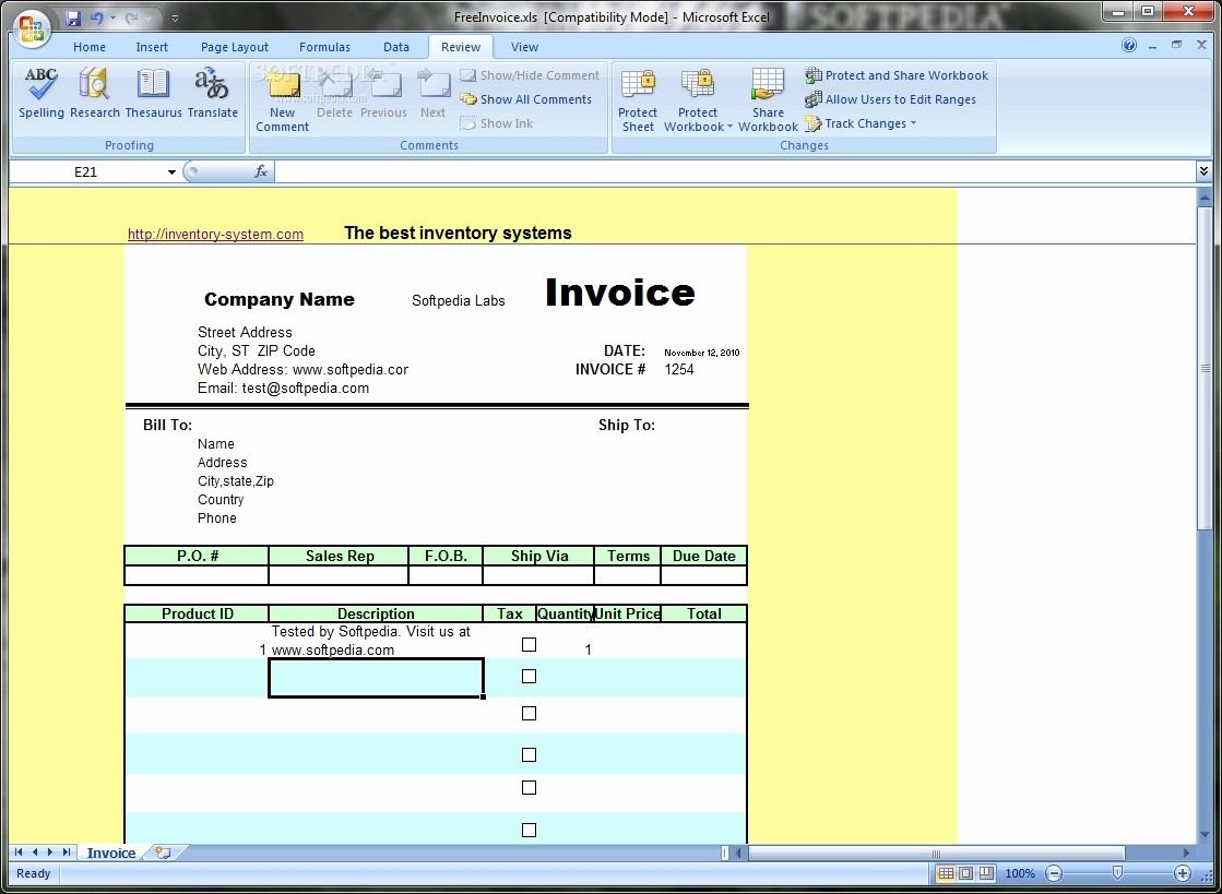 Excel Invoice Template Free Download Inspirational Invoice software Free Download Full Version Invoice