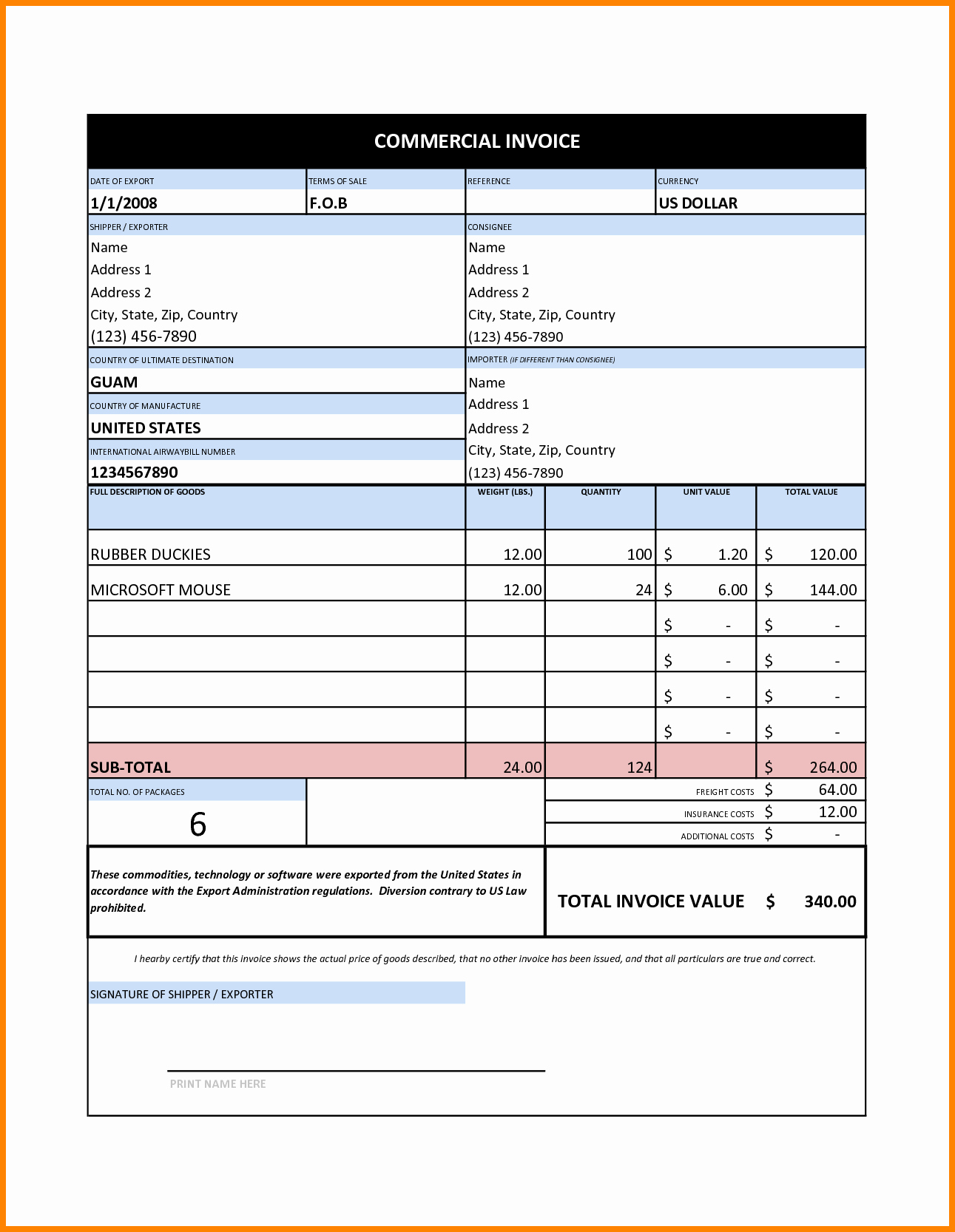Excel Invoice Template Free Download Lovely 7 Invoice format In Excel Free
