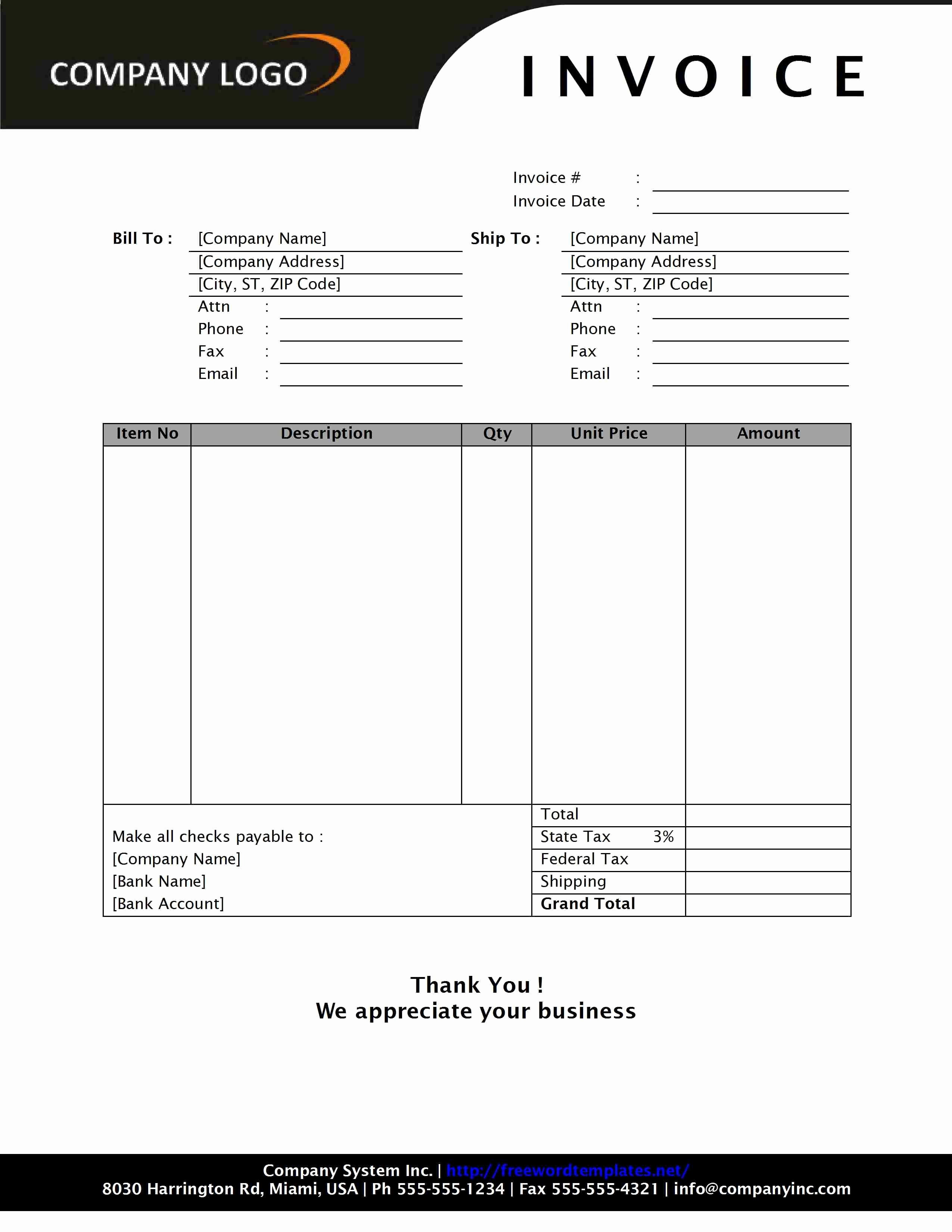 Excel Invoice Template with Logo Best Of format Of An Invoice 8 format for Sales Invoice and Tips