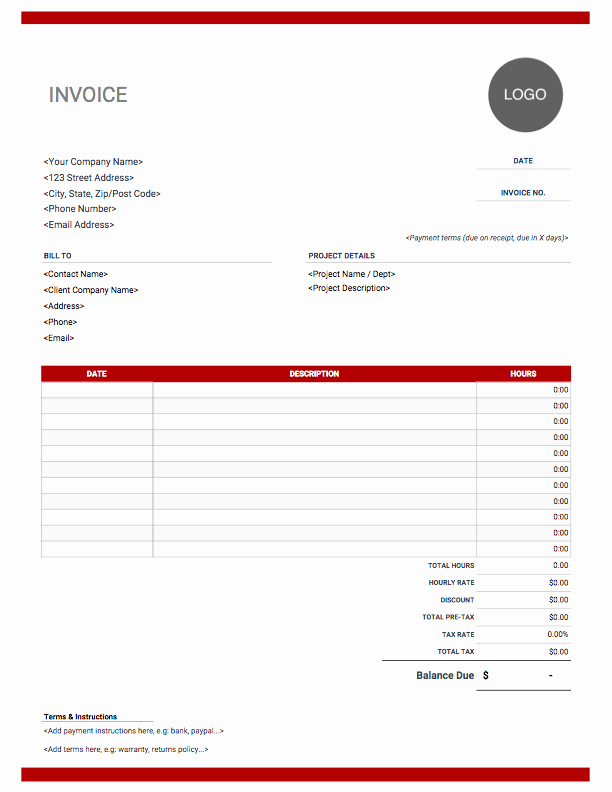 Excel Invoice Template with Logo Best Of Freelance Invoice Template