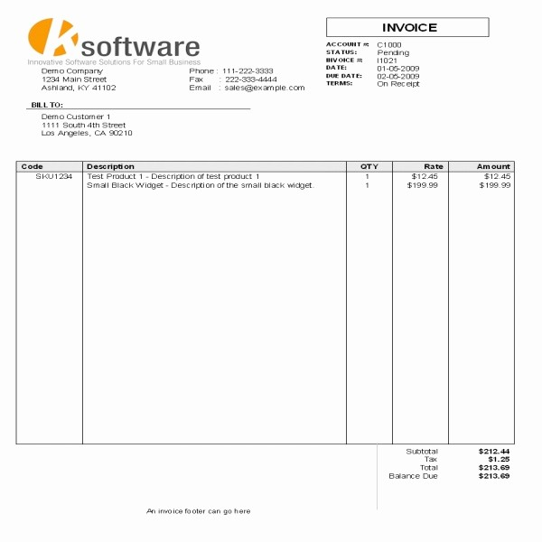 Excel Invoice Template with Logo Fresh Invoice Template with Logo