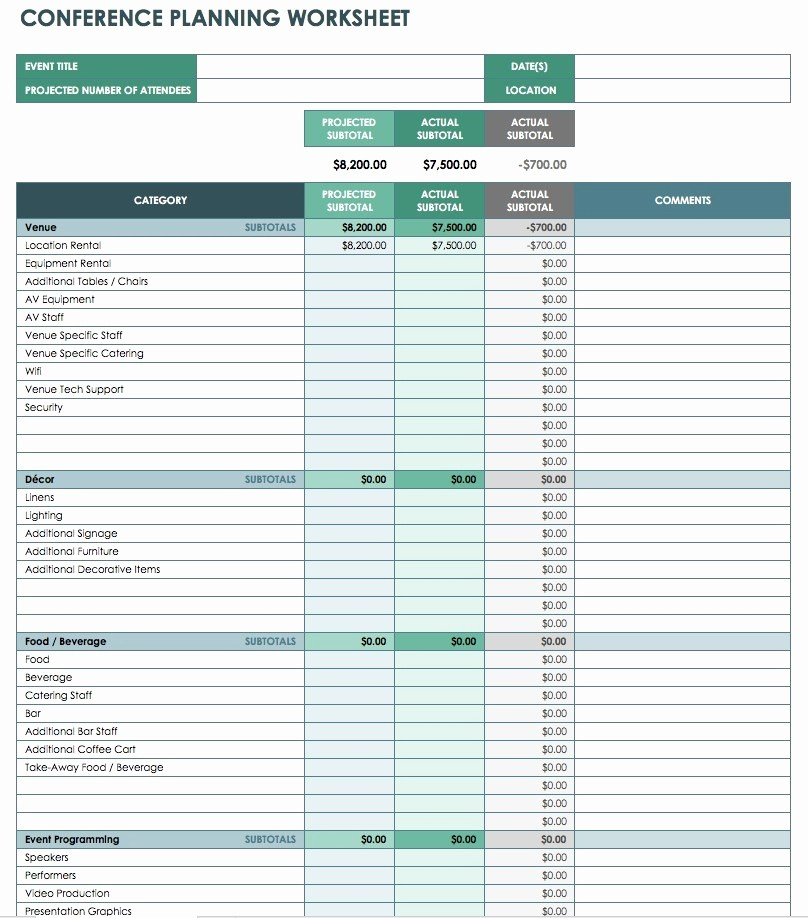 Excel Line Item Budget Template Beautiful Conference Bud Template Excel Flexible Revenue formula