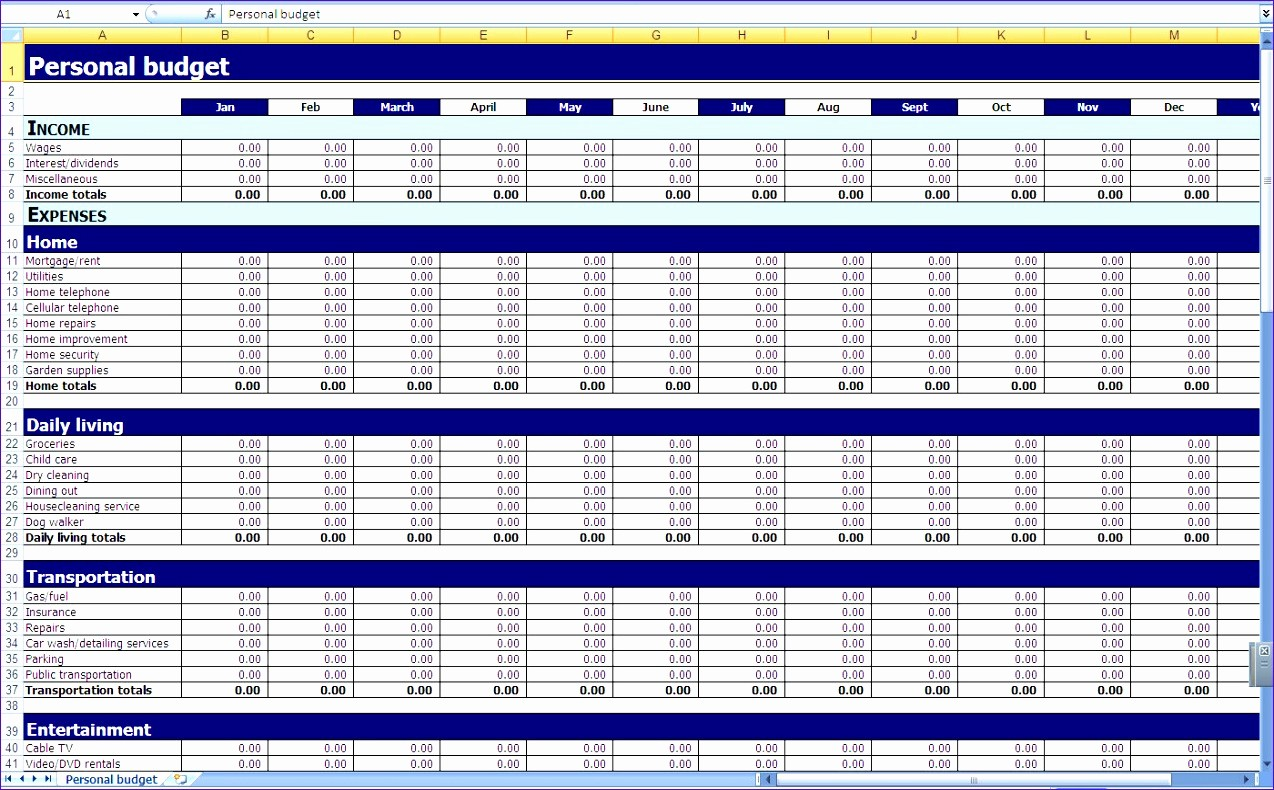 Excel Line Item Budget Template Best Of 10 Annual Bud Template Excel Exceltemplates