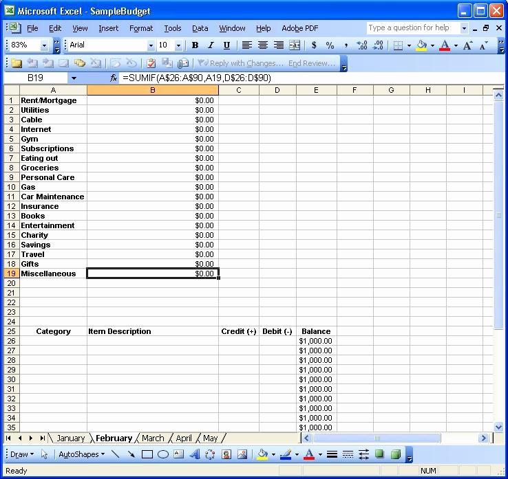 Excel Line Item Budget Template Fresh Monthly Bud Worksheet Excel