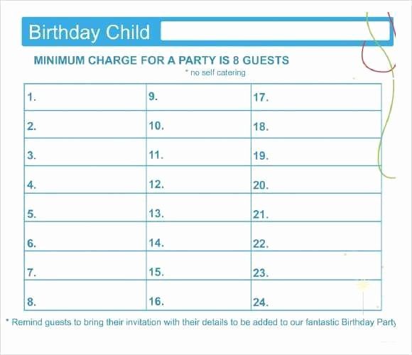 Excel Party Guest List Template Best Of 10 Party Guest List Templates Word Excel Pdf formats