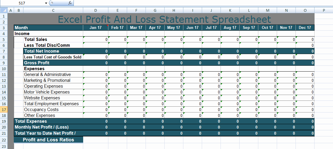 Excel Profit and Loss Statement Beautiful Free Personal Bud Spreadsheet Templates Excel