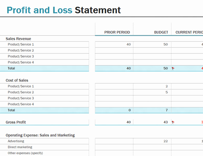 Excel Profit and Loss Statement Beautiful Profit and Loss Fice