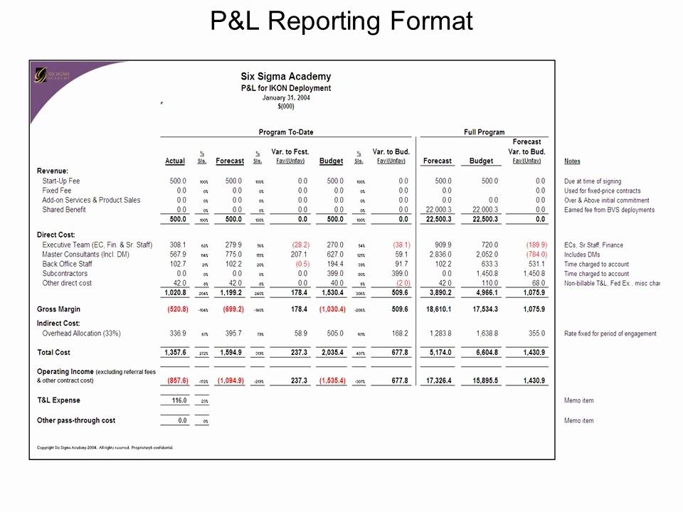 Excel Profit and Loss Statement New Profit and Loss Statement Template Excel 2007 Profit and