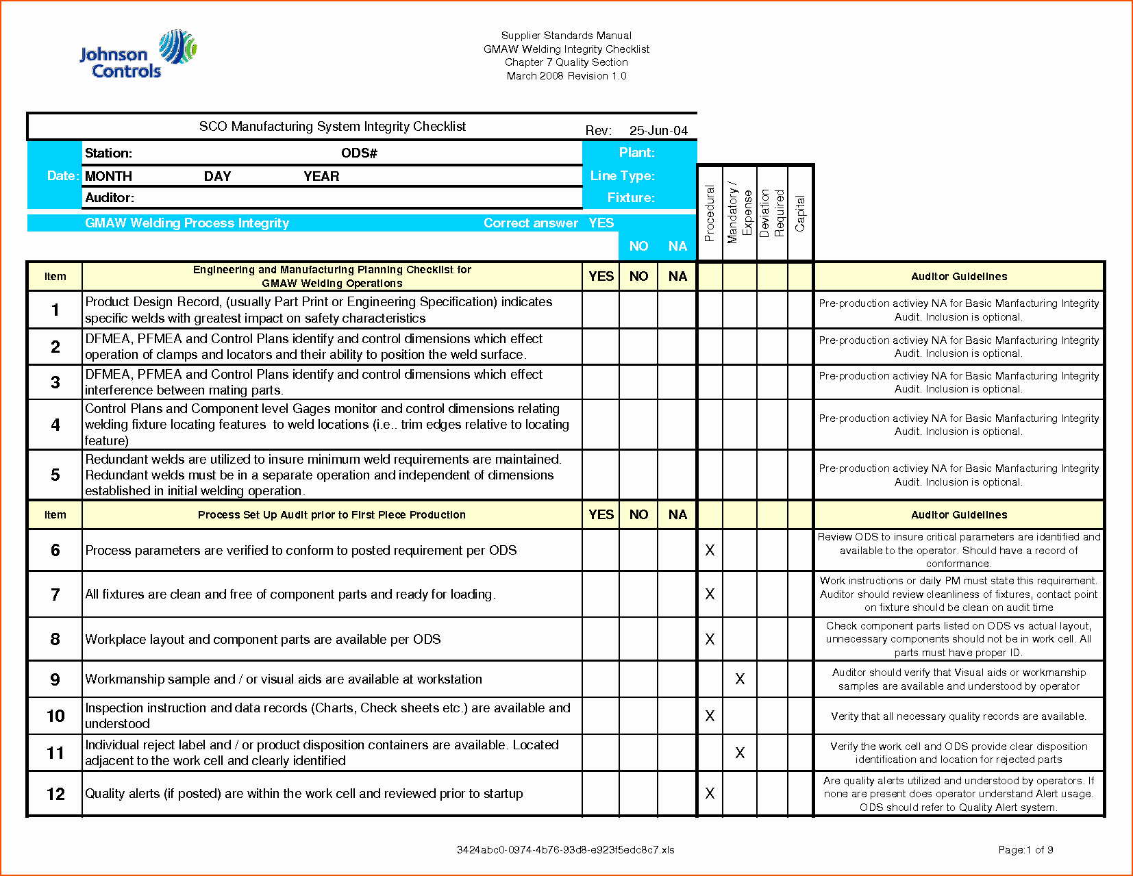 Excel Quality Control Checklist Template Beautiful 7 Checklist Template Excel Bookletemplate