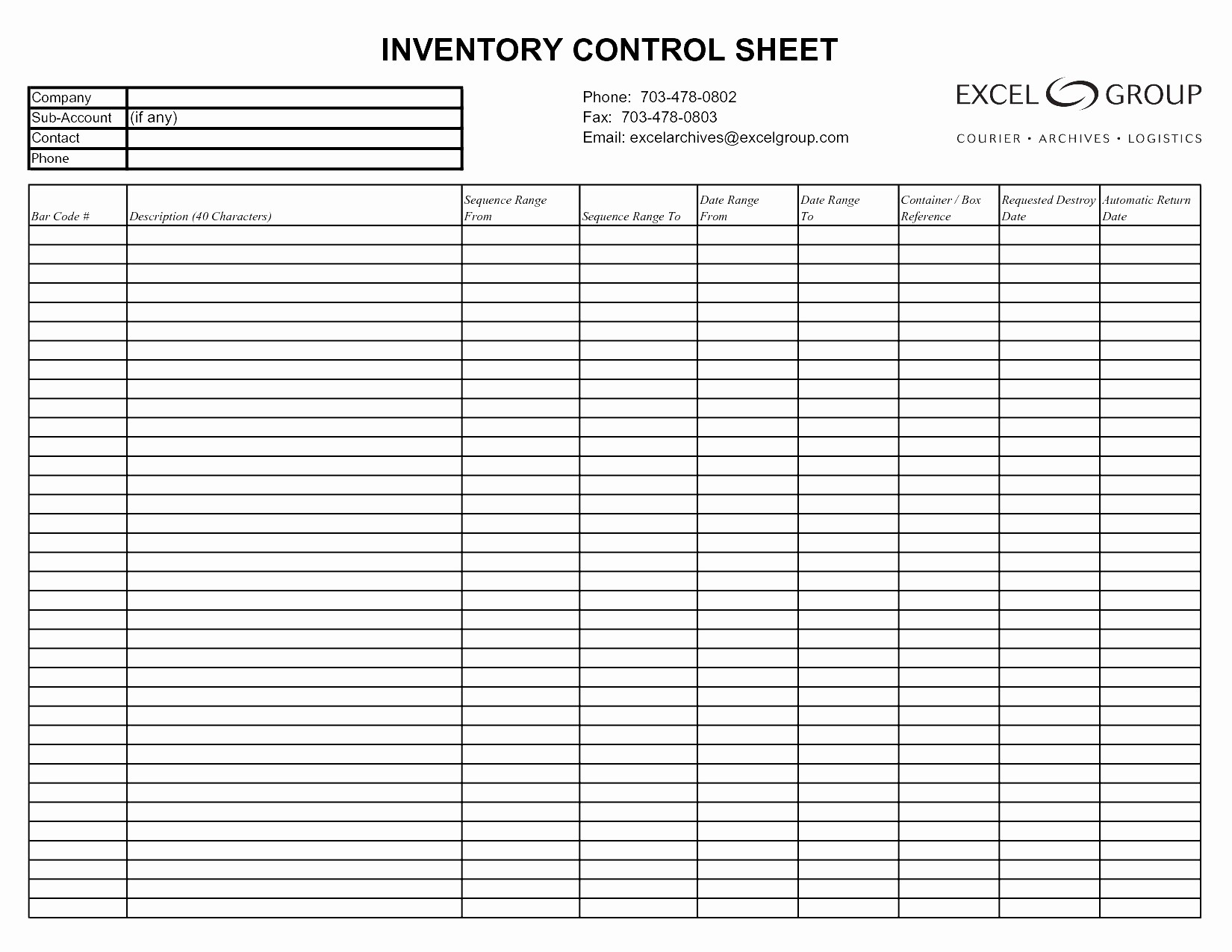Excel Sheet for Inventory Control Beautiful Stock Control Spreadsheet Template Free Google