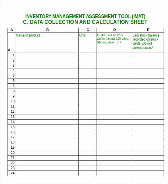 Excel Sheet for Inventory Control Fresh Excel Inventory Template 21 Free Excel Pdf Documents