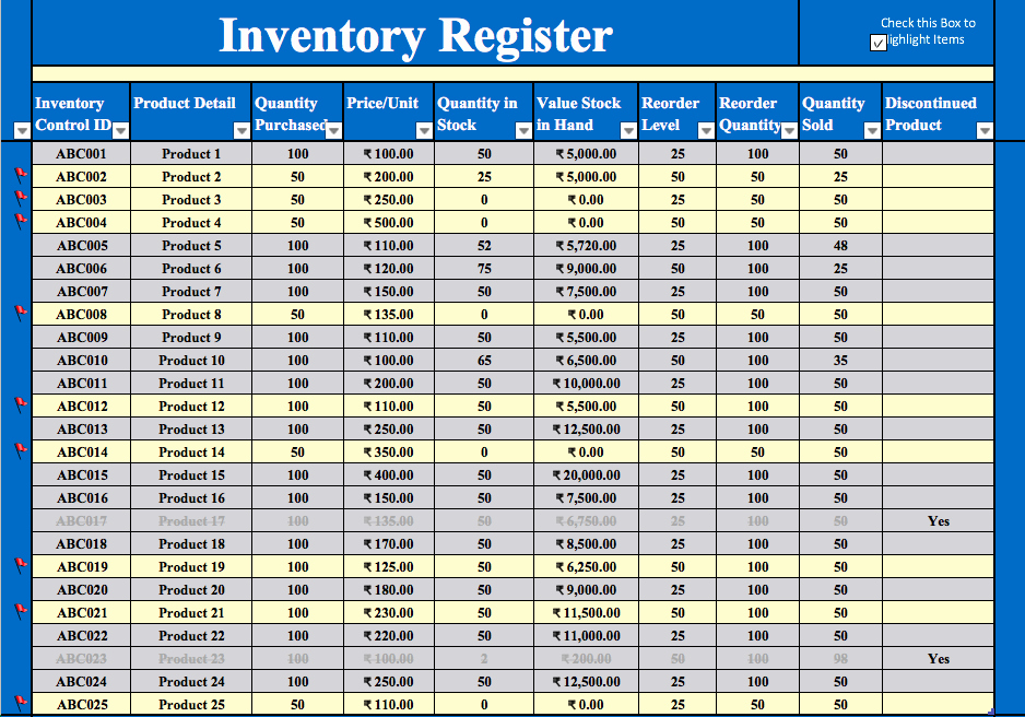 Excel Sheet for Inventory Control Luxury Inventory Management Excel Template Free Download
