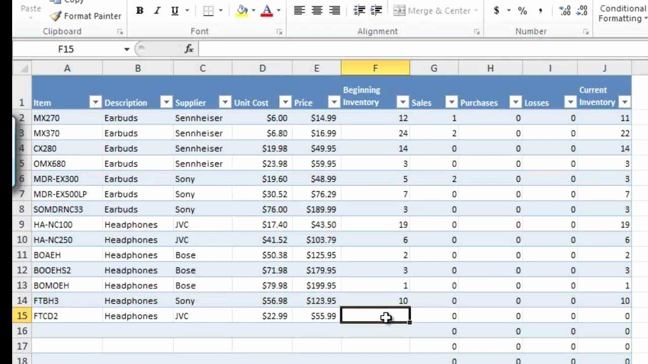 Excel Sheet for Inventory Control Unique Stock Control Excel Spreadsheet Template Free Example Of