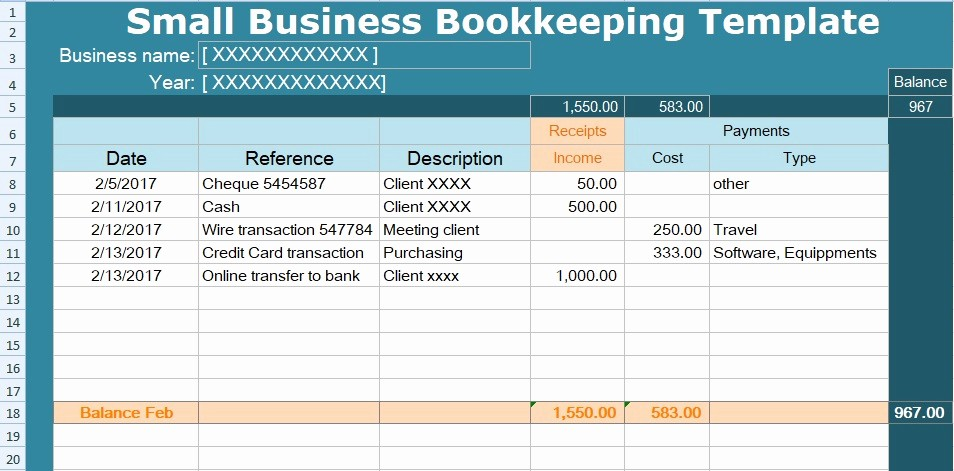 Excel Small Business Accounting Template Awesome Small Business Bookkeeping Template Spreadsheet