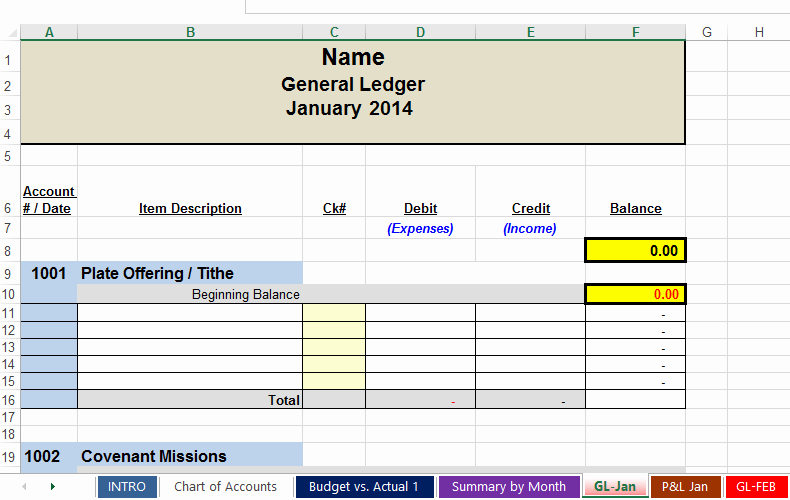 Excel Spreadsheet for Church Contributions Awesome Free Spreadsheets to Track Church and Non Profit Expenses