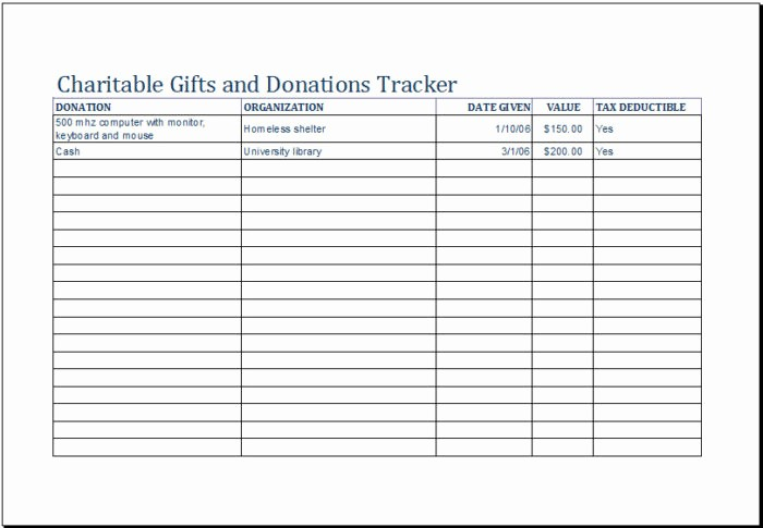 Excel Spreadsheet for Church Contributions Luxury Charitable Donation Tracker Template Templates Resume
