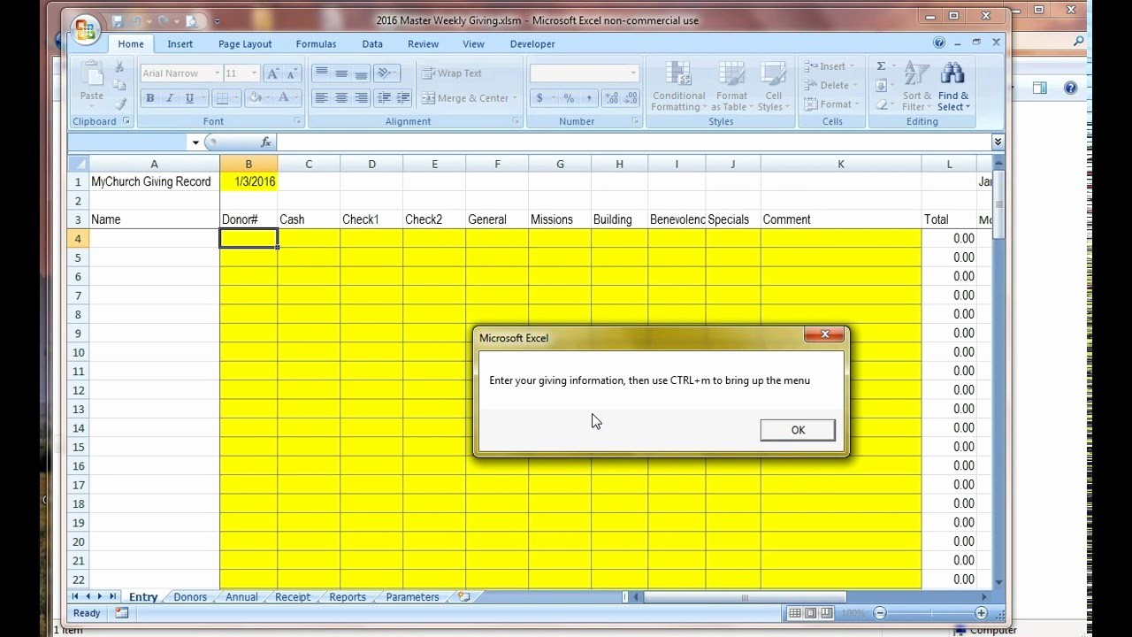 Excel Spreadsheet for Church Contributions Luxury My Church Weekly Giving Demo