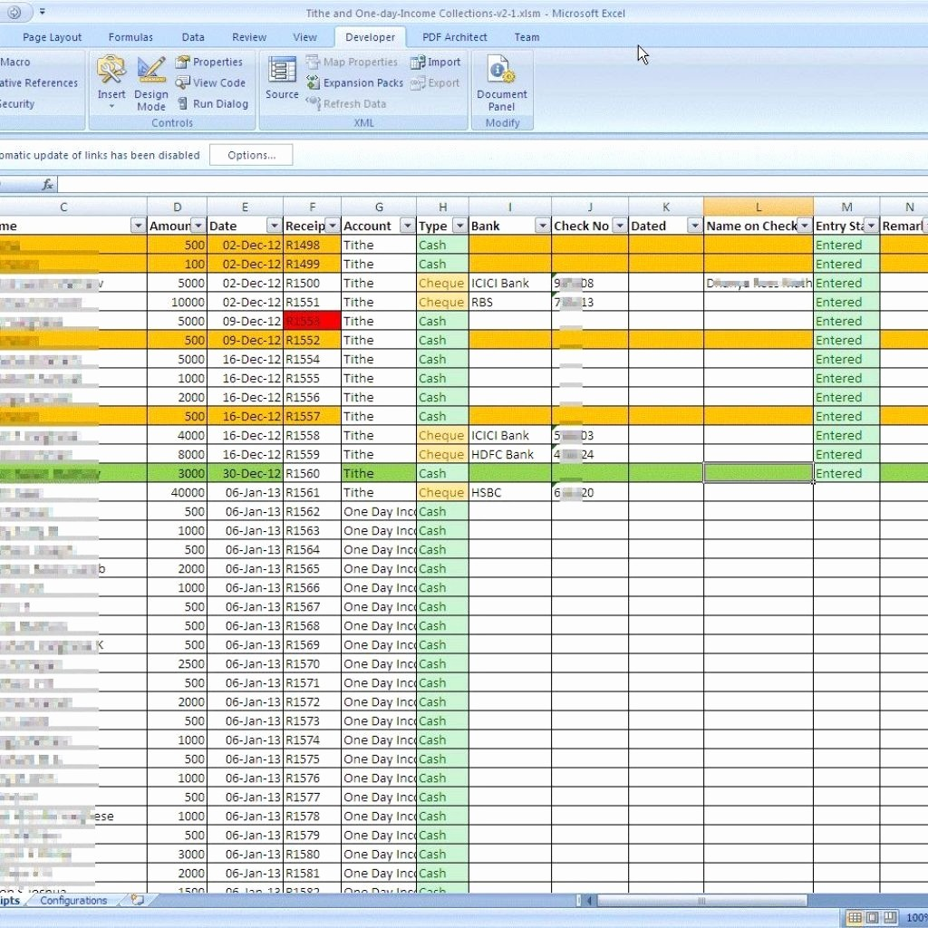 Excel Spreadsheet for Church Contributions Unique Free Church Tithe and Fering Spreadsheet Dy