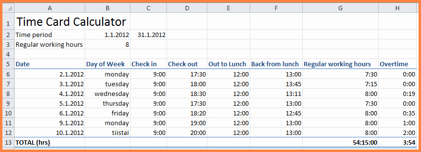 Excel Spreadsheet for Hours Worked Inspirational 11 Hours Worked Spreadsheet