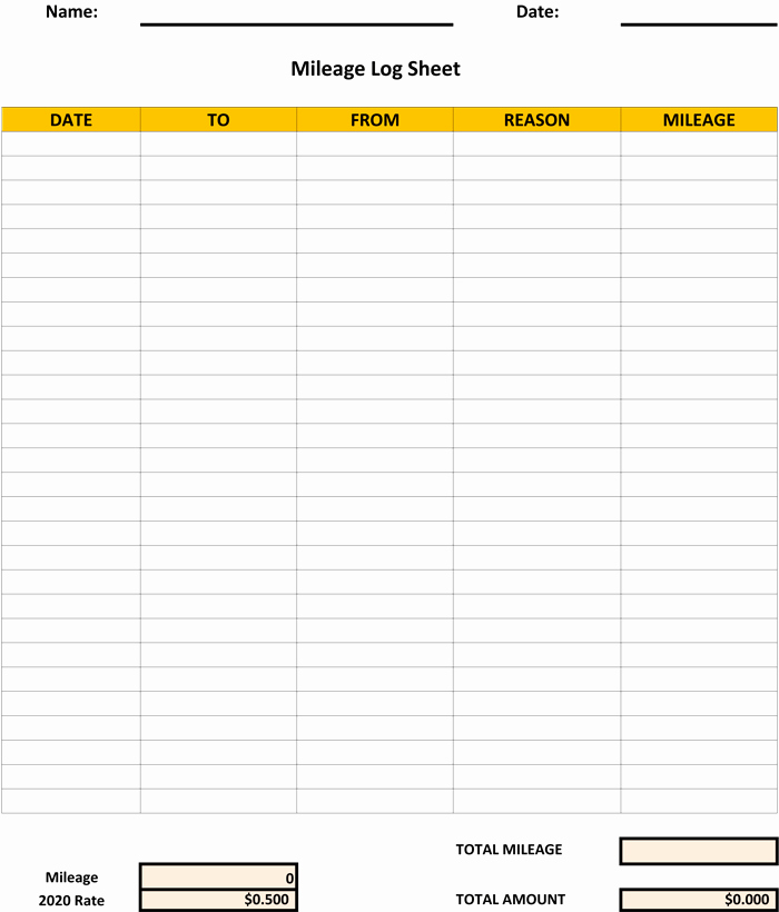Excel Spreadsheet for Mileage Log Best Of 5 Log Sheet Templates for Microsoft Word and Excel
