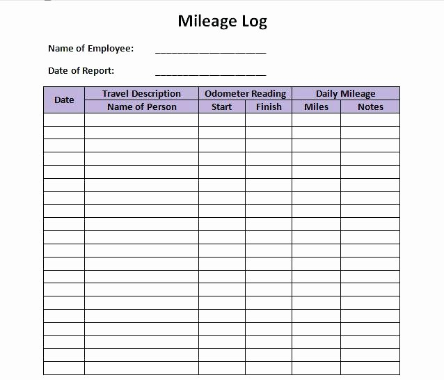 Excel Spreadsheet for Mileage Log Lovely Truckers Mileage Log Truck Vehicle Printable – Peero Idea