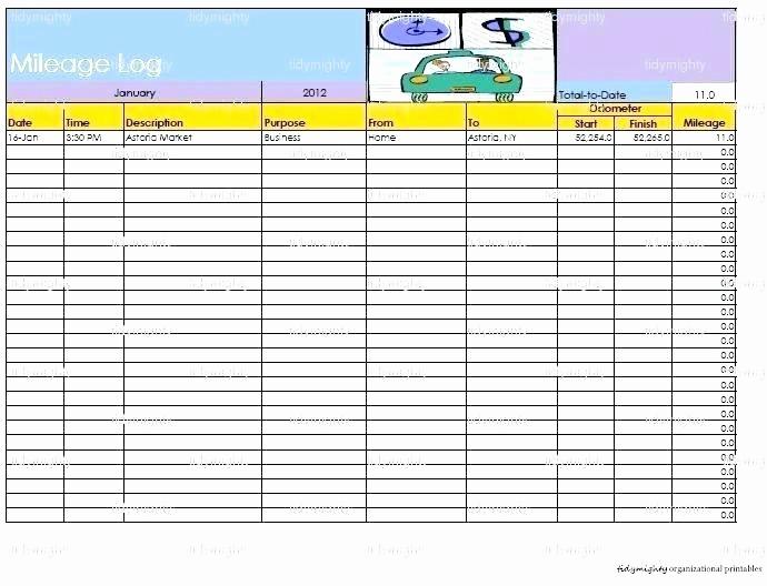 Excel Spreadsheet for Mileage Log Luxury Mileage Tracker Excel Printable Mileage Log Inspirational