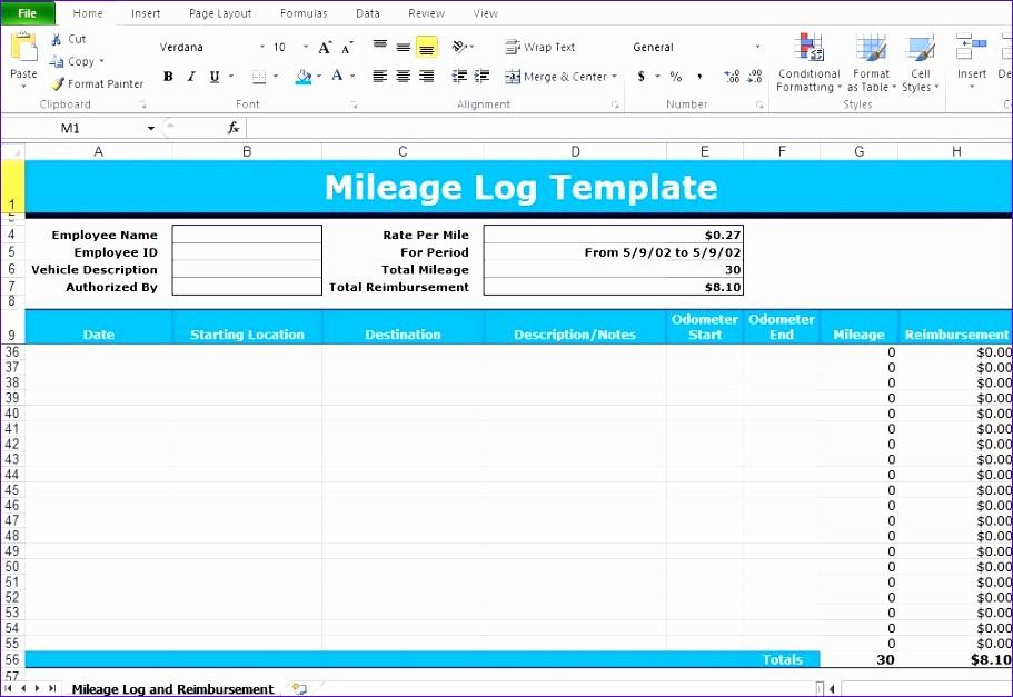 Excel Spreadsheet for Mileage Log Unique 7 Schedule Spreadsheet Template Excel Exceltemplates
