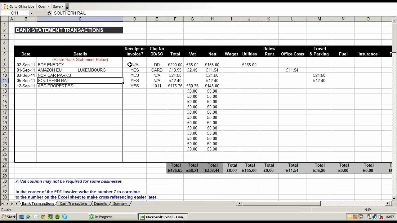 Excel Spreadsheets for Small Business Unique Small Business Accounting Spreadsheets Excel Accounting