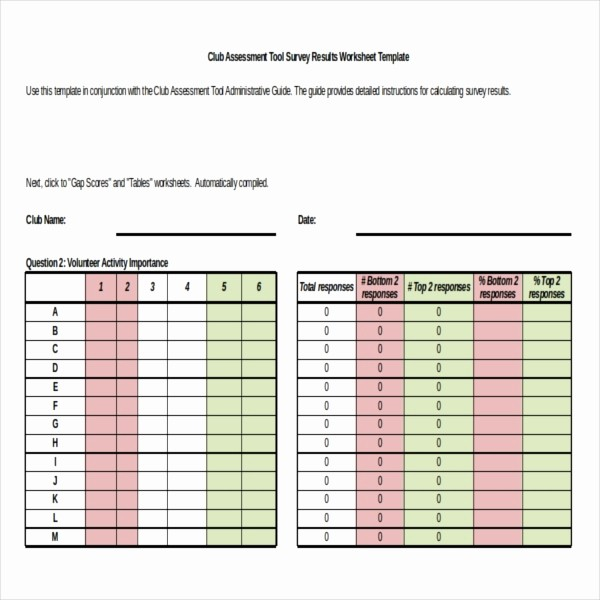 Excel Survey Template Free Download Awesome Survey Results Templates – 22 Free Word Excel Pdf