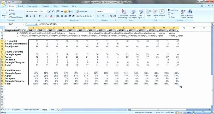 Excel Survey Template Free Download Elegant Employee Satisfaction Survey Template Excel and Data