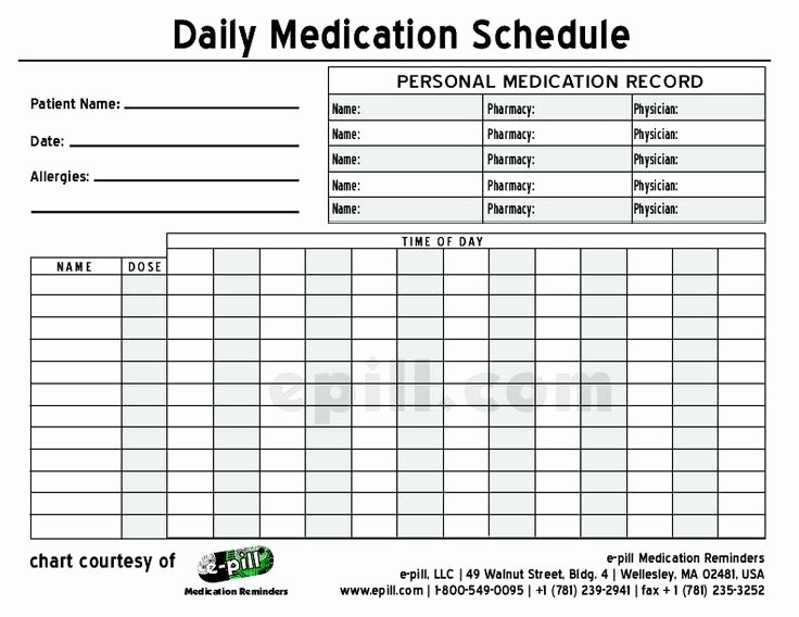 Excel Template for Medication Schedule Lovely Free Daily Medication Schedule Free Daily Medication