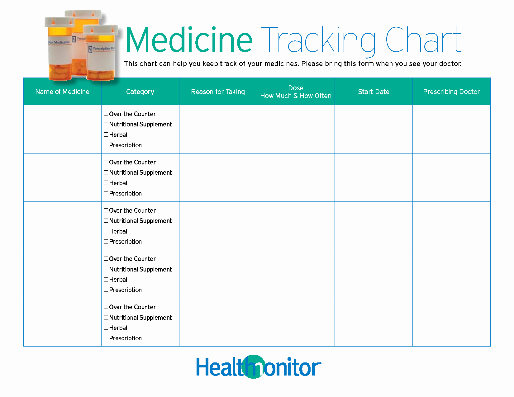 Excel Template for Medication Schedule New 7 Best Of Medication Taken Chart Weekly