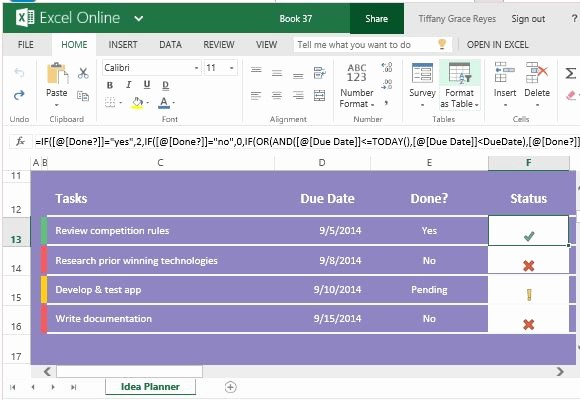 Excel Template for Tracking Tasks Best Of Idea Planner Template for Excel for Tasks Goals and