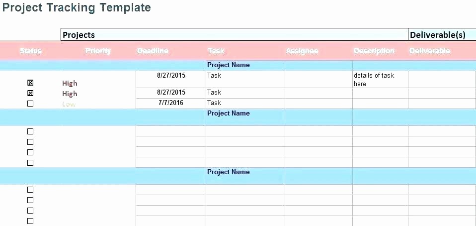 Excel Template for Tracking Tasks New Excel Tracking Project Tracking In Excel Free Excel