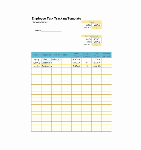 Excel Template for Tracking Tasks Unique Task Tracking Template – 10 Free Word Excel Pdf format