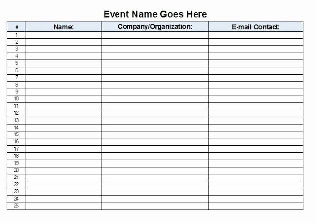 Excel Template Sign In Sheet Awesome the Admin Bitch Download Free event Sign In Sheet