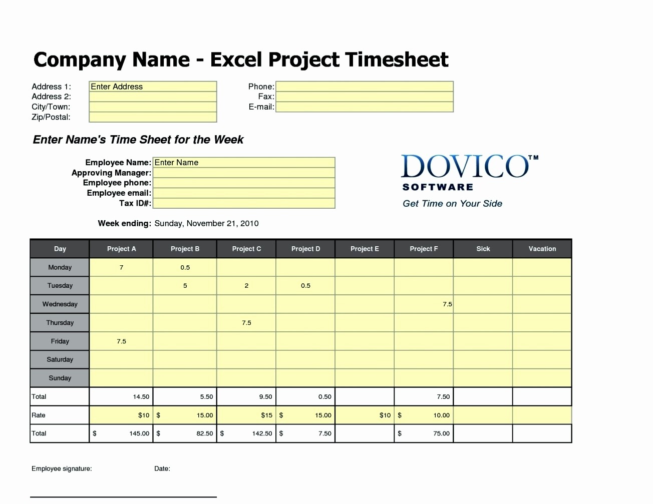Excel Time Card Template Free Inspirational Free Excel Time Card Template Template Update234