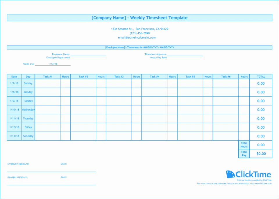 Excel Time Card Template Free New Employee Time Sheet form Awesome Spreadsheet Fill Card