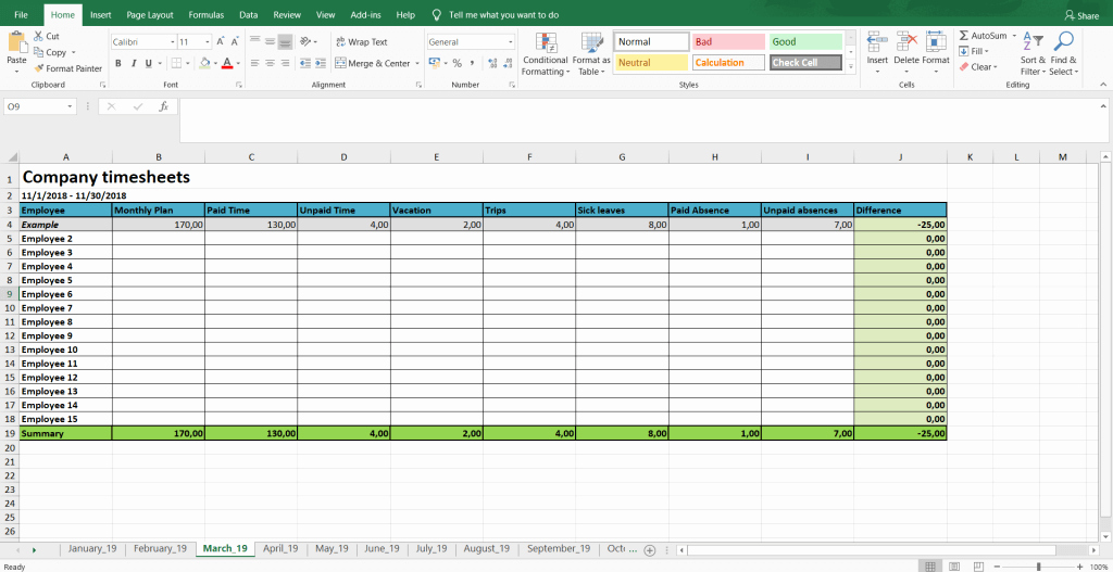 Excel Timesheet for Multiple Employees Awesome Monthly and Weekly Timesheets Free Excel Timesheet